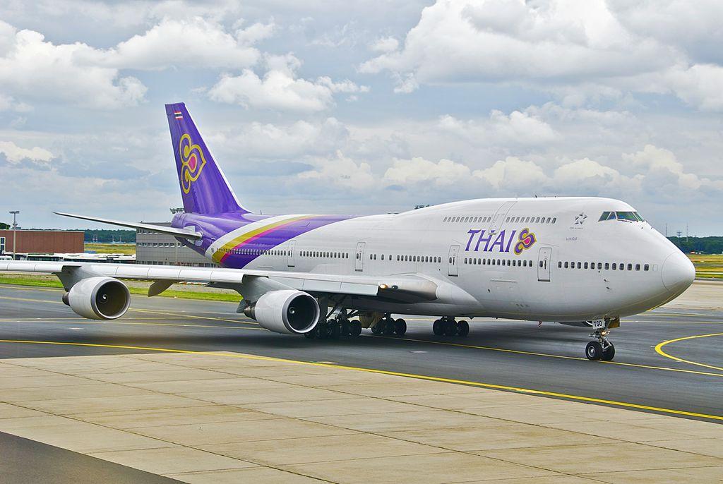 タイ航空B747