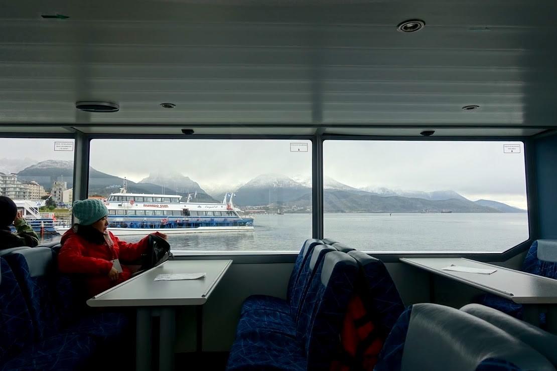ビーグル水道ツアーの船