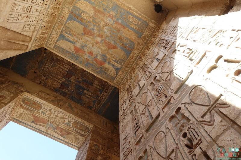 ラムセス3世葬祭殿の門