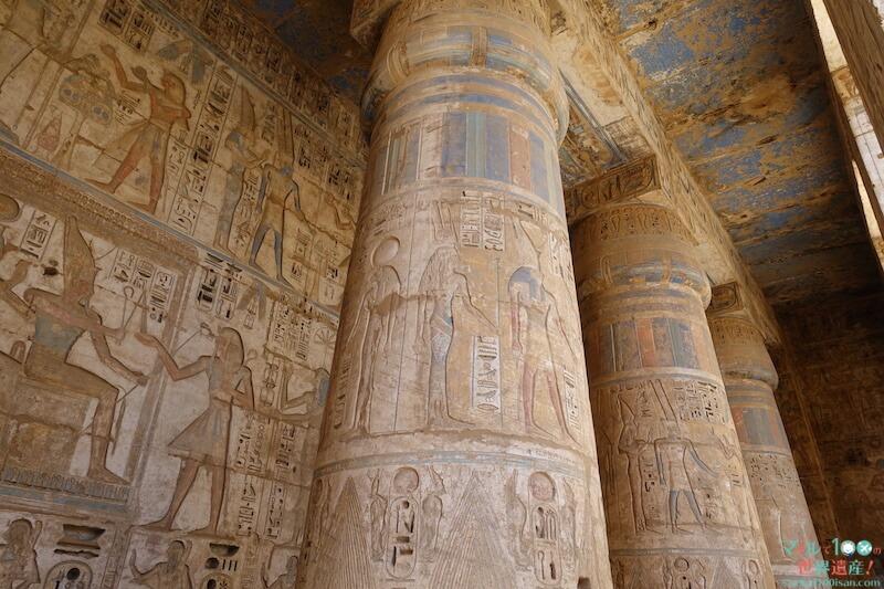 ラムセス3世葬祭殿の柱
