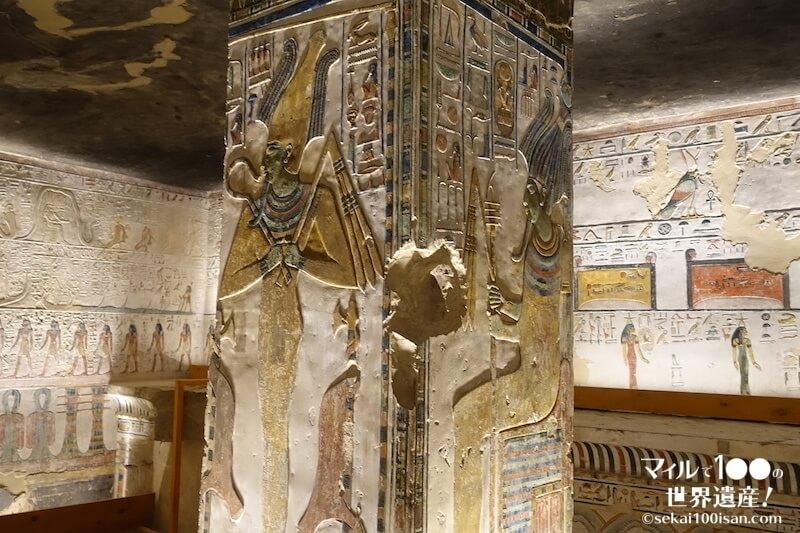 セティ1世の墓の柱