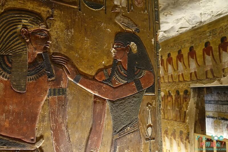 セティ1世の墓の壁画