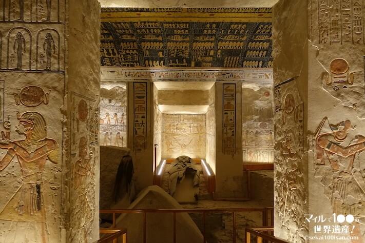 王家の谷ラムセス6世の墓・玄室