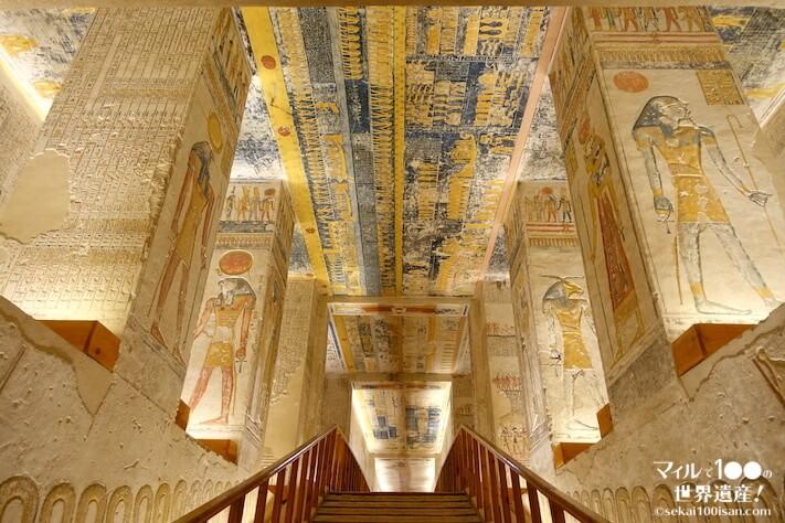 ラムセス6世の墓から入り口方向