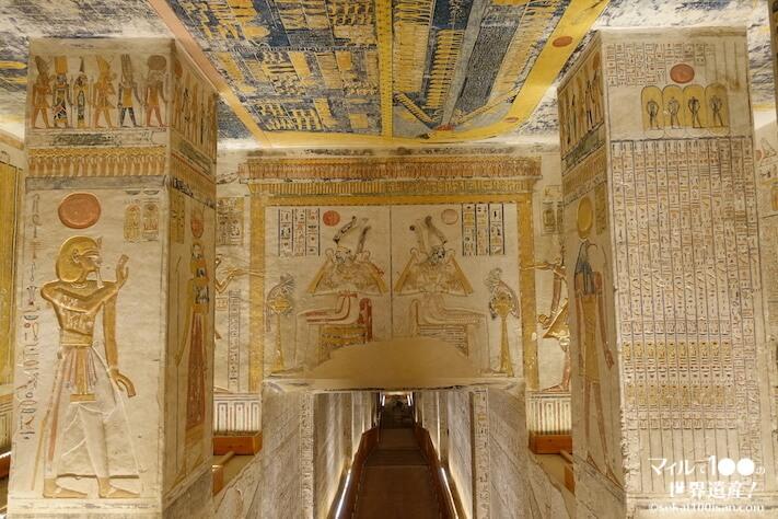 ラムセス6世特別王墓の入り口付近