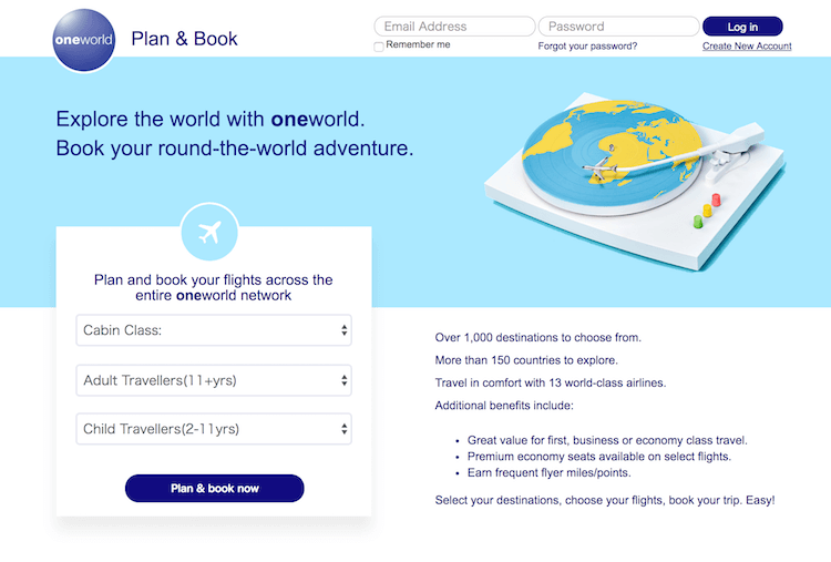 oneworld plan & book